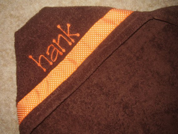 Personalized Hooded Towel-hooded towel, personalized