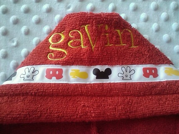 Mickey Personalized Hooded Towel-hooded towel