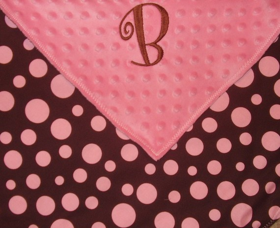 GIRL Personalized Lovey-lovey, baby blanket, personalized