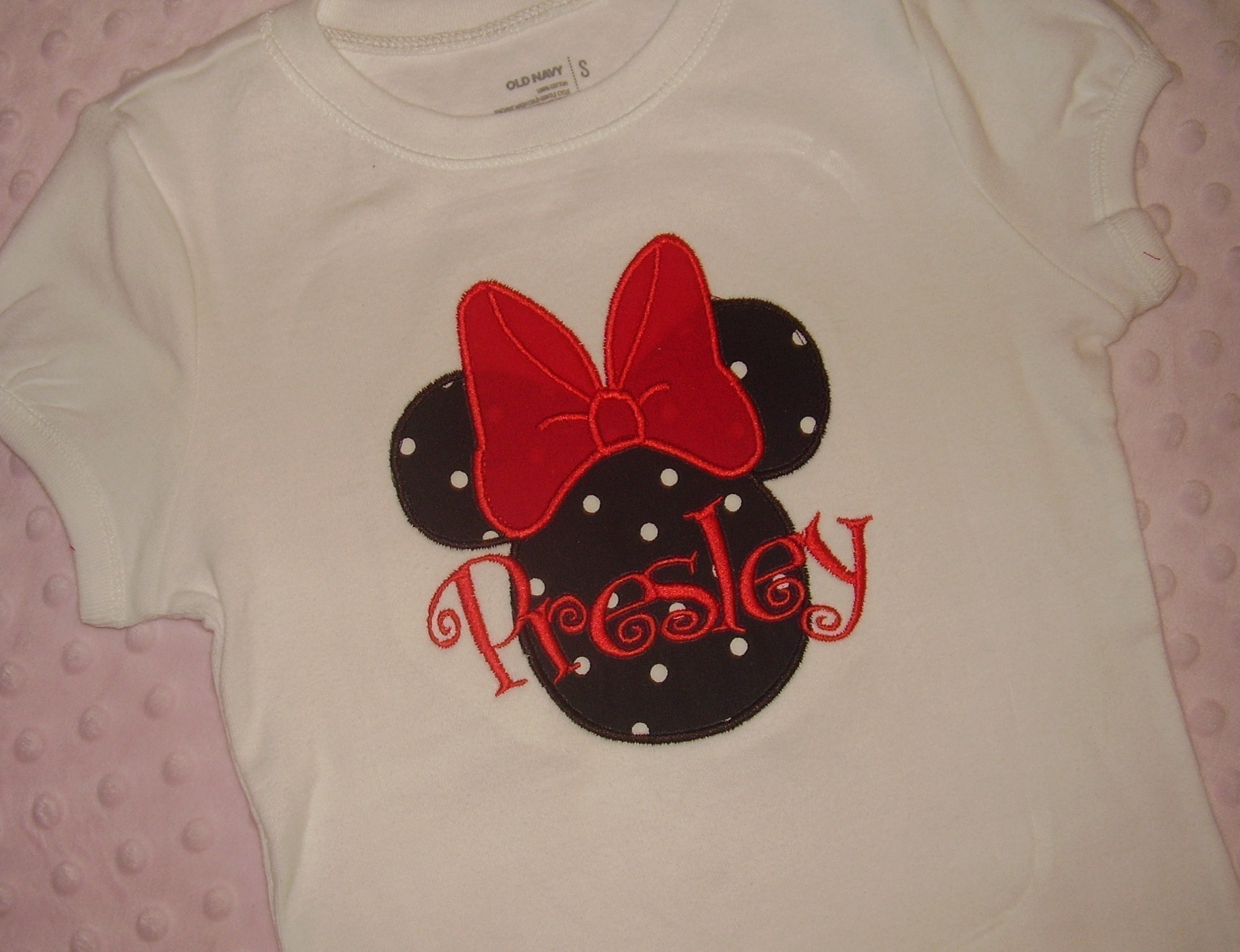 Personalized Minnie Tee-Minnie Tee