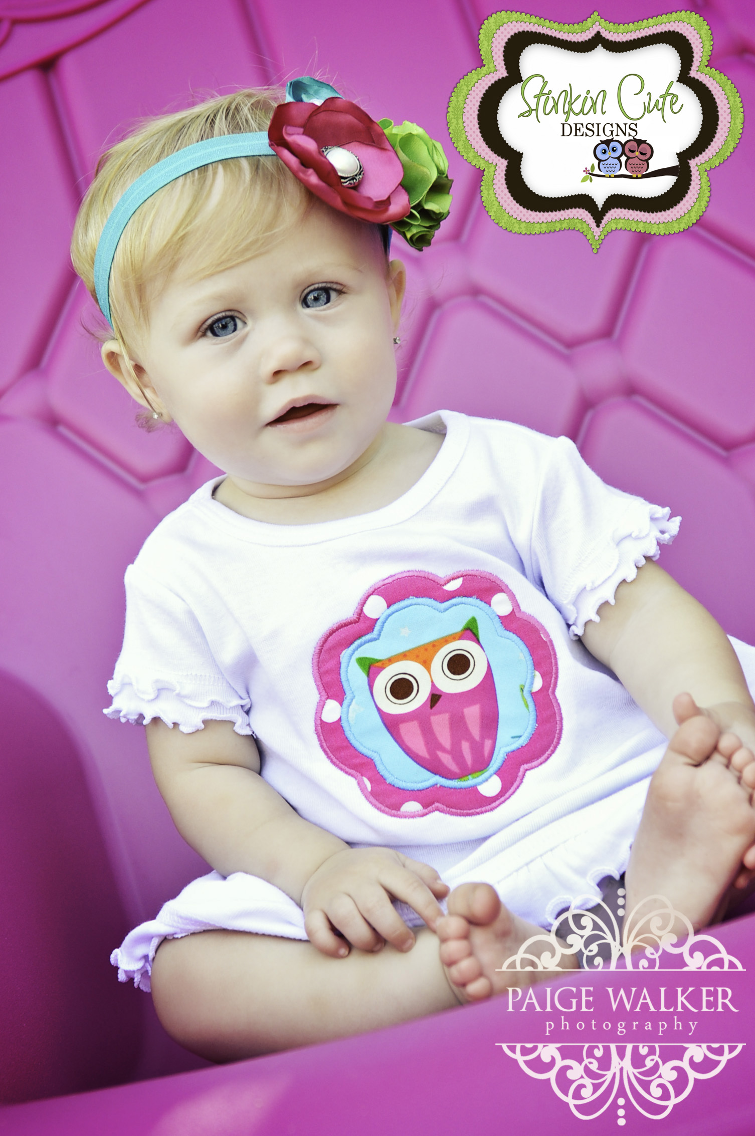 Owl Scalloped Applique Dress and Matching Vintage Headband-Owl Dress